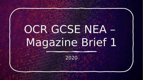 OCR Media Studies NEA Magazine Brief 2020