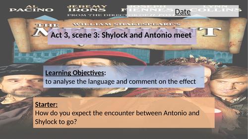 Merchant of Venice: Act 3 Scene 3 (Shylock and Antonio)