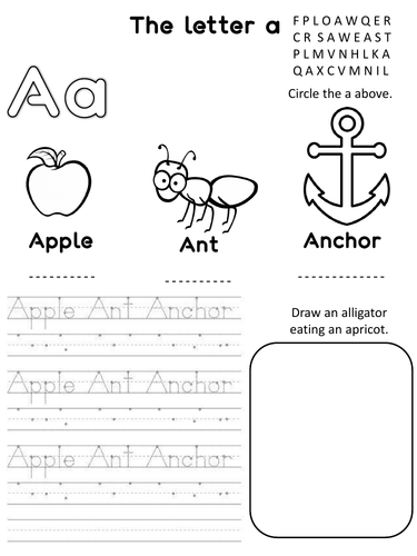 The letter A phonic