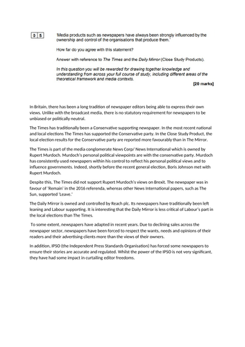 AQA GCSE Paper 2 feedback