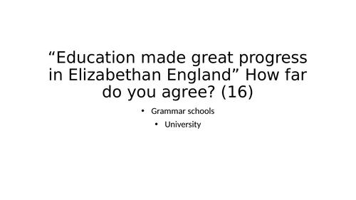 Elizabeth I GCSE Essay Revision