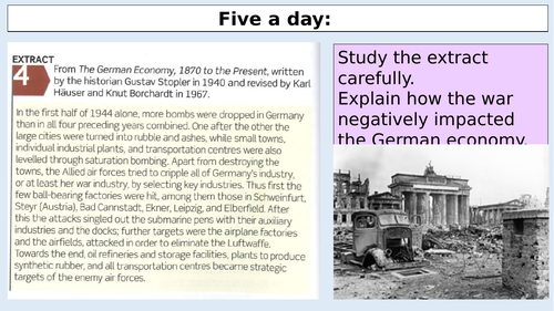 A level History Edexcel Germany War and the economy
