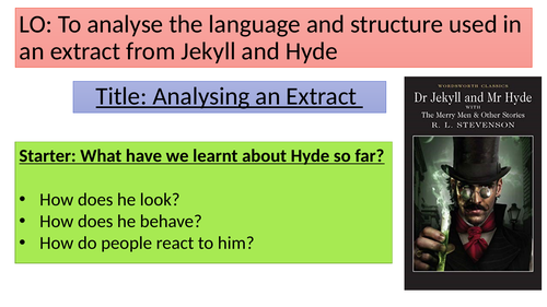 Jekyll and Hyde assessment and DIRT