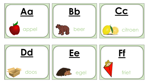 Alfabet Flashcards Nederlands (Dutch)
