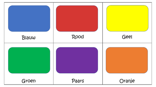 Kleuren flashcards Nederlands ( Dutch )