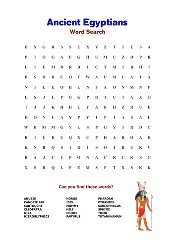 Ancient Egyptians: Word Search