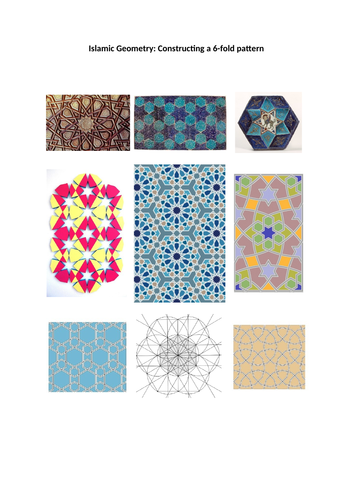 Islamic Geometry: Constructing a 6-fold pattern