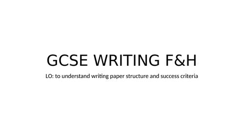 GCSE 9-1 WRITING ITALIAN