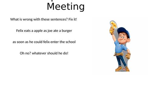 Grammar Meeting Powerpoint