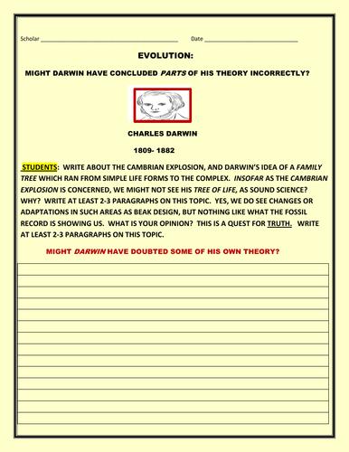 DARWINIAN THEORY & NEW EVIDENCE