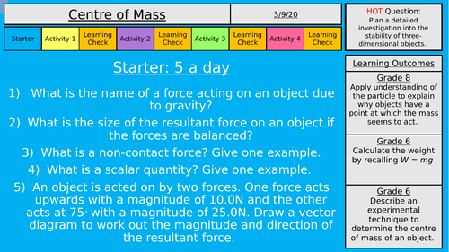 AQA Forces - Physics - Centre of Mass