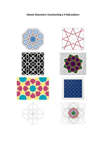 Islamic Geometry: constructing a 4-fold pattern