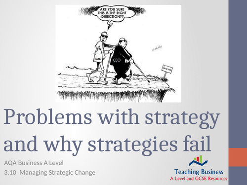 AQA Business - Problems with Strategies and Why Strategies Fail