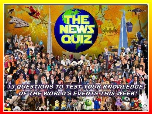 The News Quiz 9th - 30th March 2020 Form Tutor Time Current Affairs