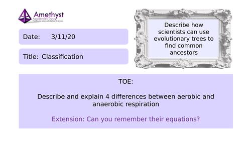 Classification - AQA (9-1)