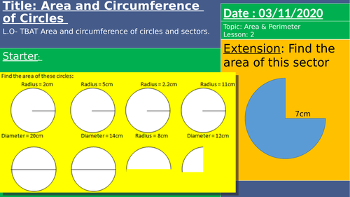 Arc Length adn Area of Sector (COMPLETE LESSONS) - GCSE Higher