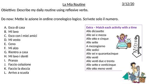 Module 3 Daily and Cultural Life - GCSE Italian (Edexcel)