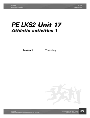 LKS2 (Year 3 and 4) PE Throwing