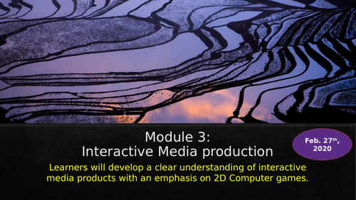 Introduction to Interactive Media Studies for BTEC TECH