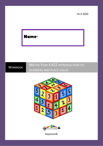 Year 4 Maths workbook Introduction to numbers and place value