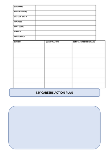Careers Action Plan