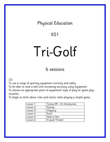 KS1 PE Planning - Games - Tri Golf
