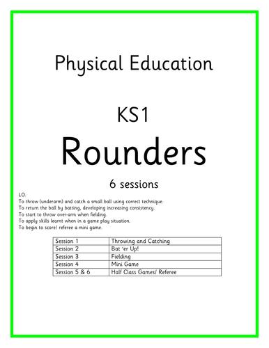 KS1 PE Planning - Games - Rounders