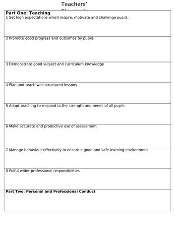 Teachers' Standards