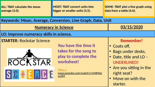 Numeracy in Science (KS3/4)