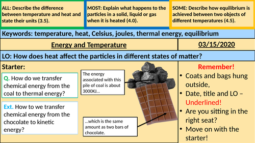 Energy and Temperature KS3