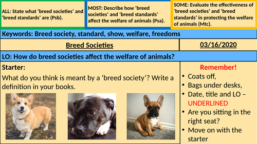 Breed Societies - BTEC Animal Care