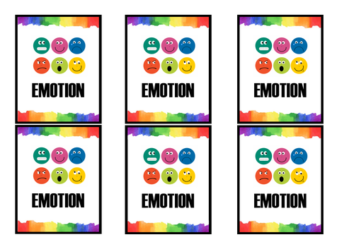 Emotion Playing Cards - Devising Theatre / Creating Character