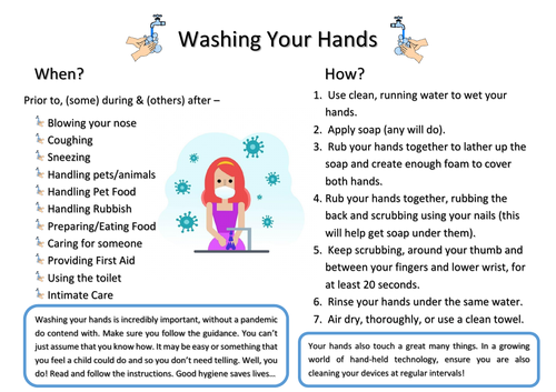 New Functional Skills English - Reading Revise/Assess - Now Wash Your Hands