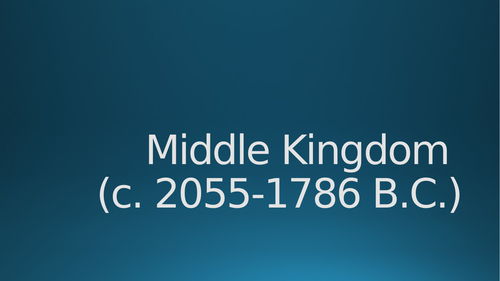 Overview of Middle Kingdom Egypt
