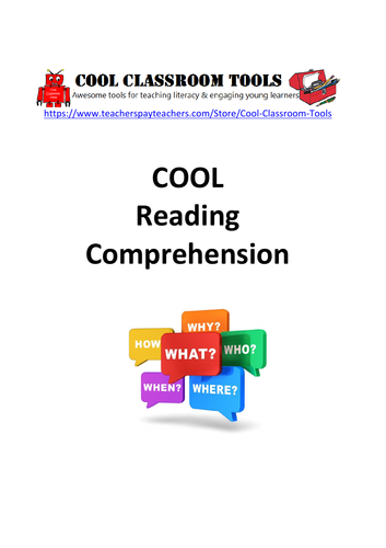 Reading Comprehension English Workbook for Primary Literacy and ESL Students