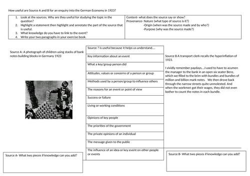 Edexcel GCSE revision/retrieval/practice How useful are these sources