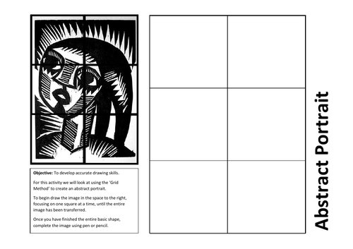 Abstract portrait worksheet