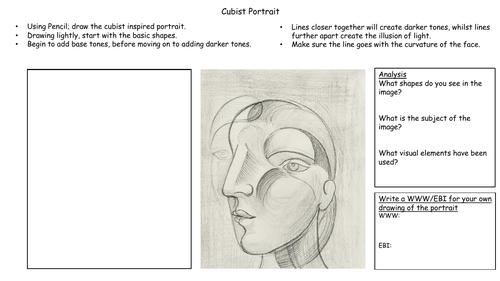 Cubist Portrait Worksheet