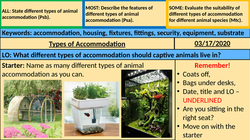 Types of Accommodation - Animal Care