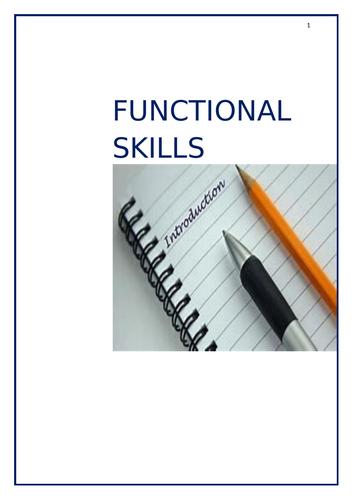 Functional Skills English SPAG Workbook Tasks - 16 pages, E3 - L1