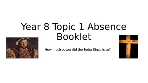 Tudor Activity Booklet for Absence