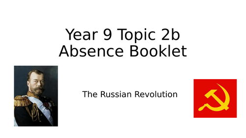 Russian Revolution Absence Workbook