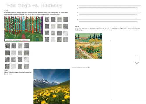 Landscapes - Cover worksheets