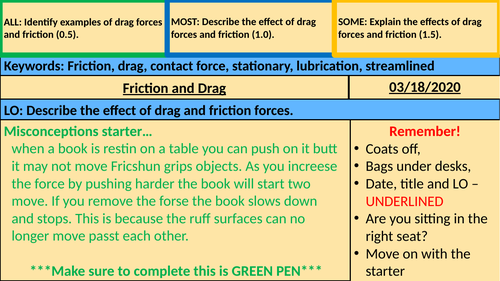 Friction and Drag - KS3