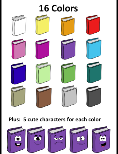 Book and expression- clipart- for personal and commercial use