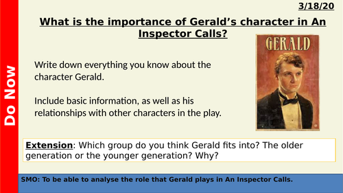 An Inspector Calls - Gerald Croft
