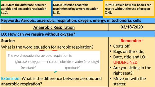 Anaerobic Respiration - KS3
