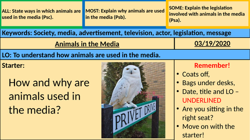 Animals in the Media (BTEC)