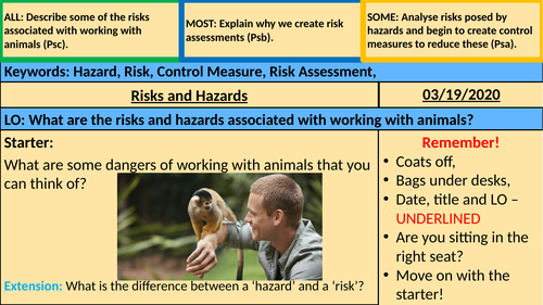 Hazards and Risks Animal Care (BTEC)