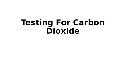 Limewater: Test for Carbon Dioxide (CO2)
